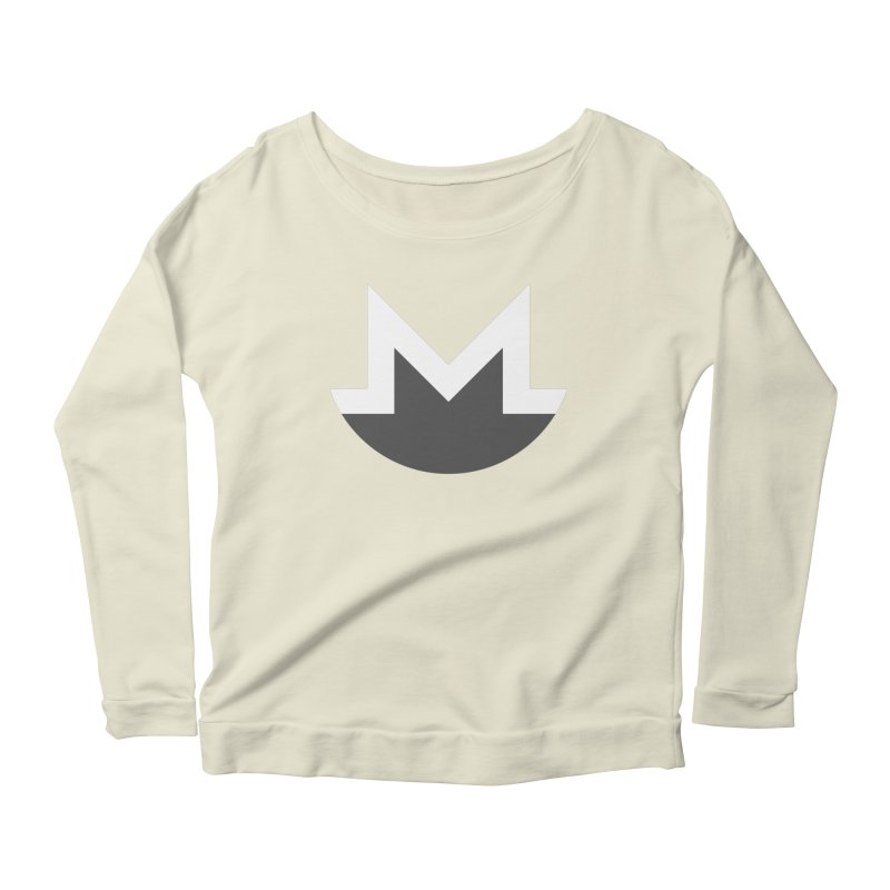 Monero Logo Women's Scoop Neck Longsleeve T-Shirt by satoshi's Artist Shop