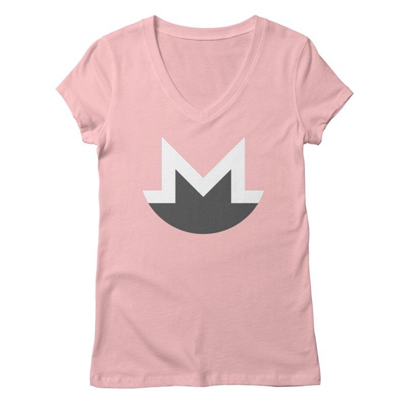 Monero Logo Women's Regular V-Neck by satoshi's Artist Shop