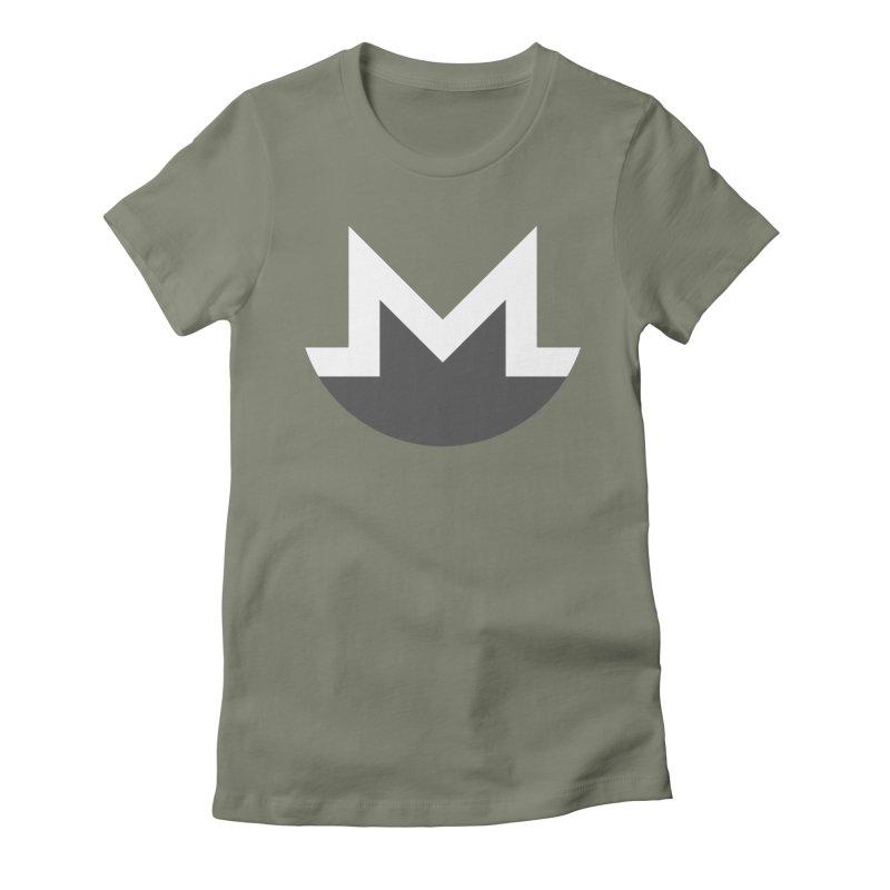 Monero Logo Women's Fitted T-Shirt by satoshi's Artist Shop