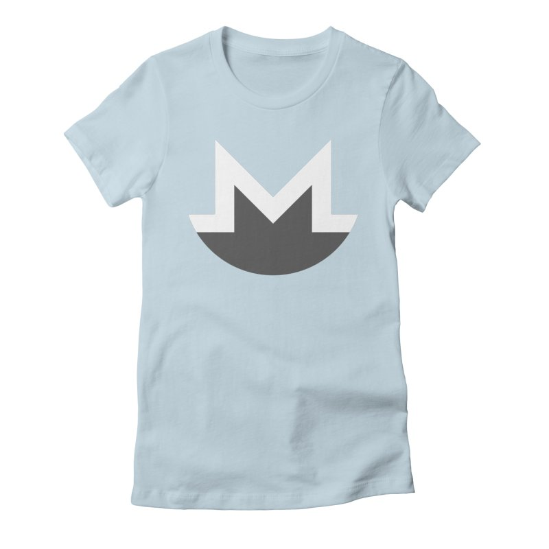 Monero Logo Women's Fitted T-Shirt by satoshi's Artist Shop