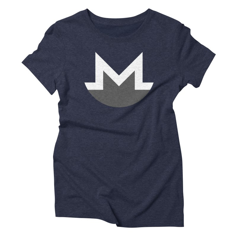 Monero Logo Women's Triblend T-Shirt by satoshi's Artist Shop