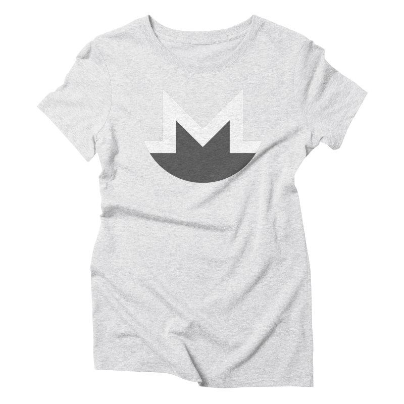 Monero Logo Women's Triblend T-Shirt by satoshi's Artist Shop