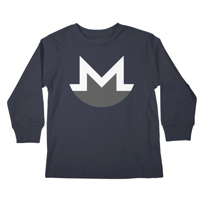 Monero Logo Kids Longsleeve T-Shirt by satoshi's Artist Shop