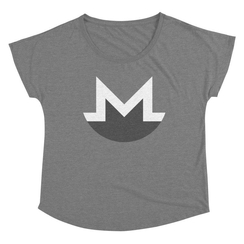 Monero Logo Women's Scoop Neck by satoshi's Artist Shop