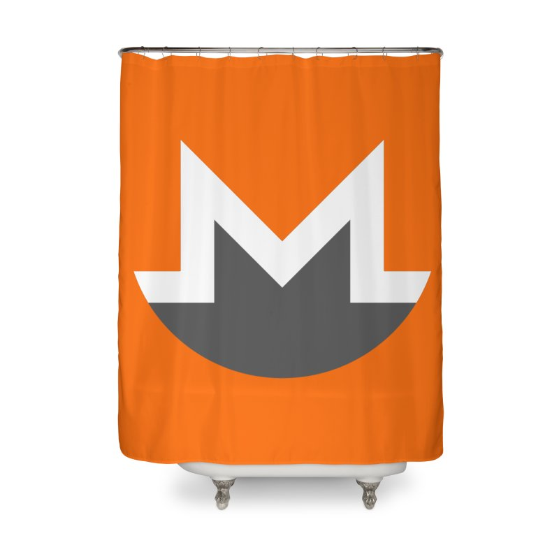 Monero Logo Home Shower Curtain by satoshi's Artist Shop