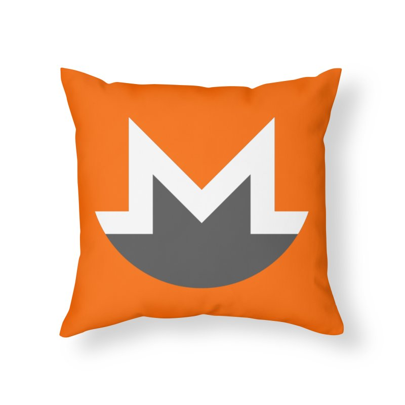 Monero Logo Home Throw Pillow by satoshi's Artist Shop