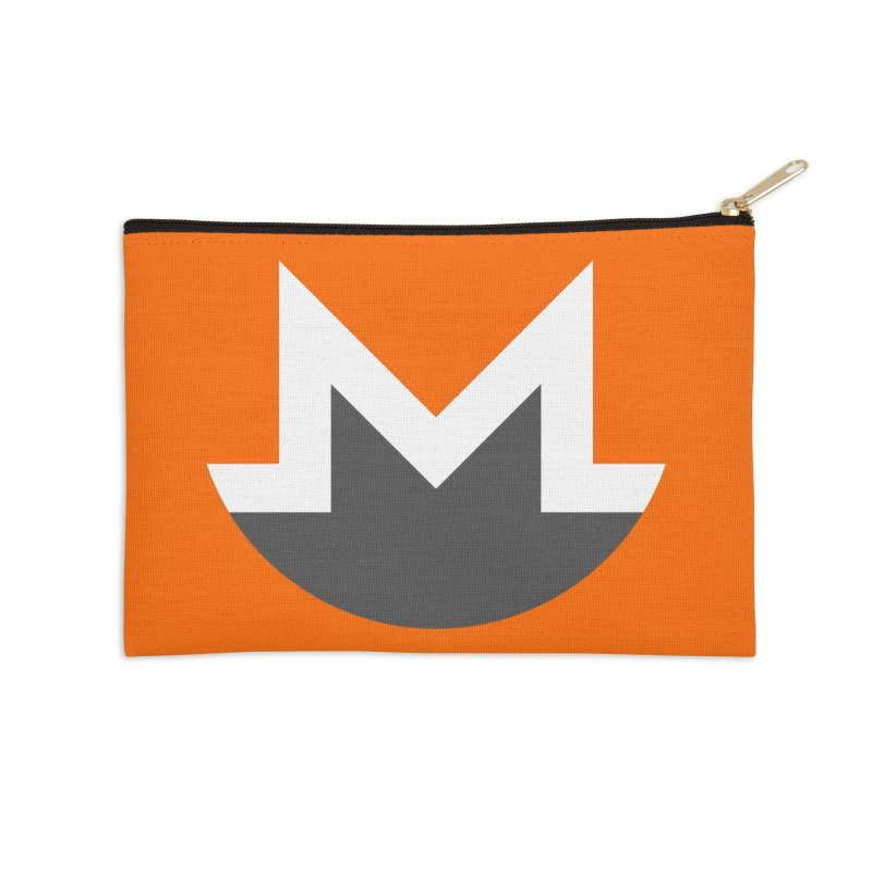 Monero Logo Accessories Zip Pouch by satoshi's Artist Shop