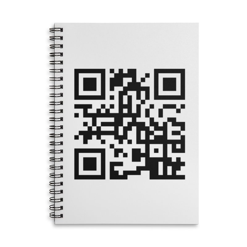 XMR QR Accessories Lined Spiral Notebook by satoshi's Artist Shop