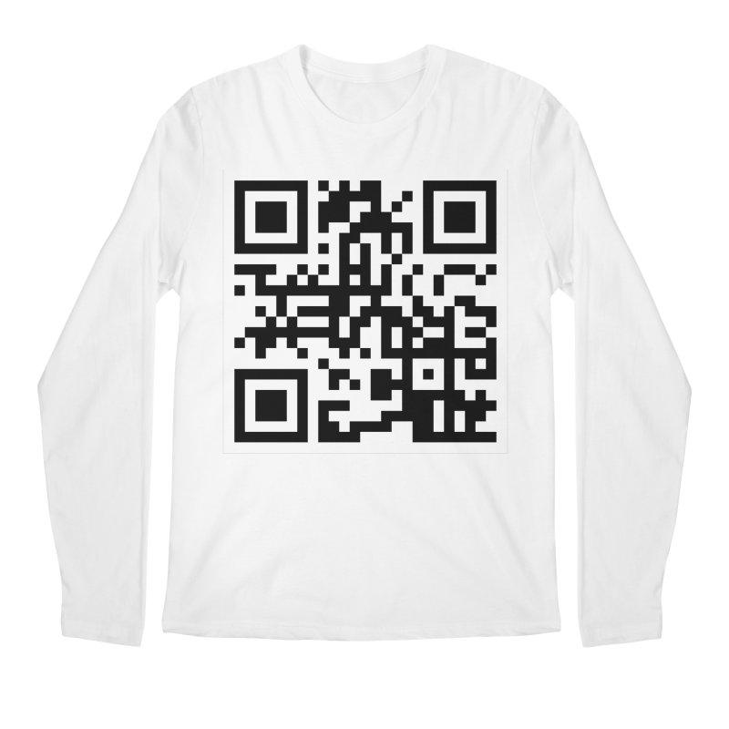 XMR QR Men's Regular Longsleeve T-Shirt by satoshi's Artist Shop
