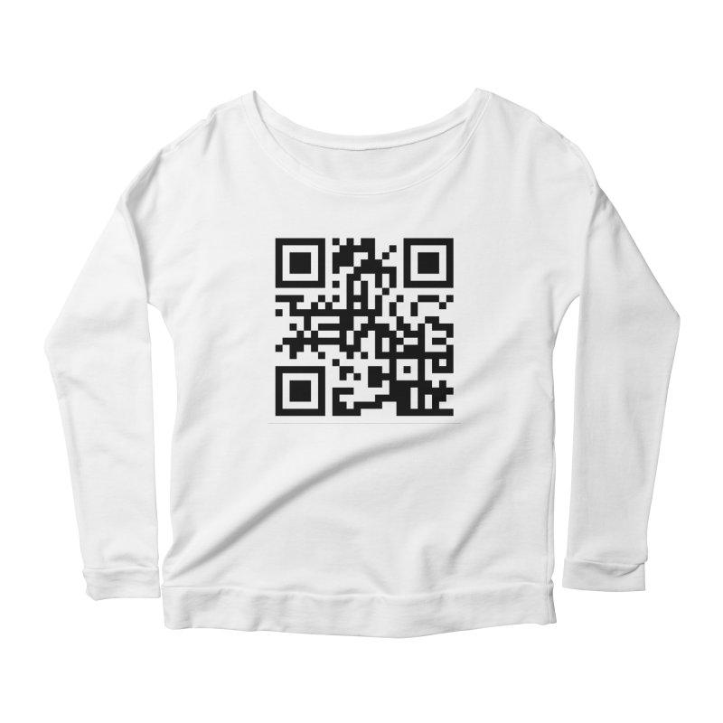 XMR QR Women's Scoop Neck Longsleeve T-Shirt by satoshi's Artist Shop