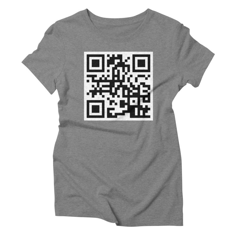 XMR QR Women's Triblend T-Shirt by satoshi's Artist Shop