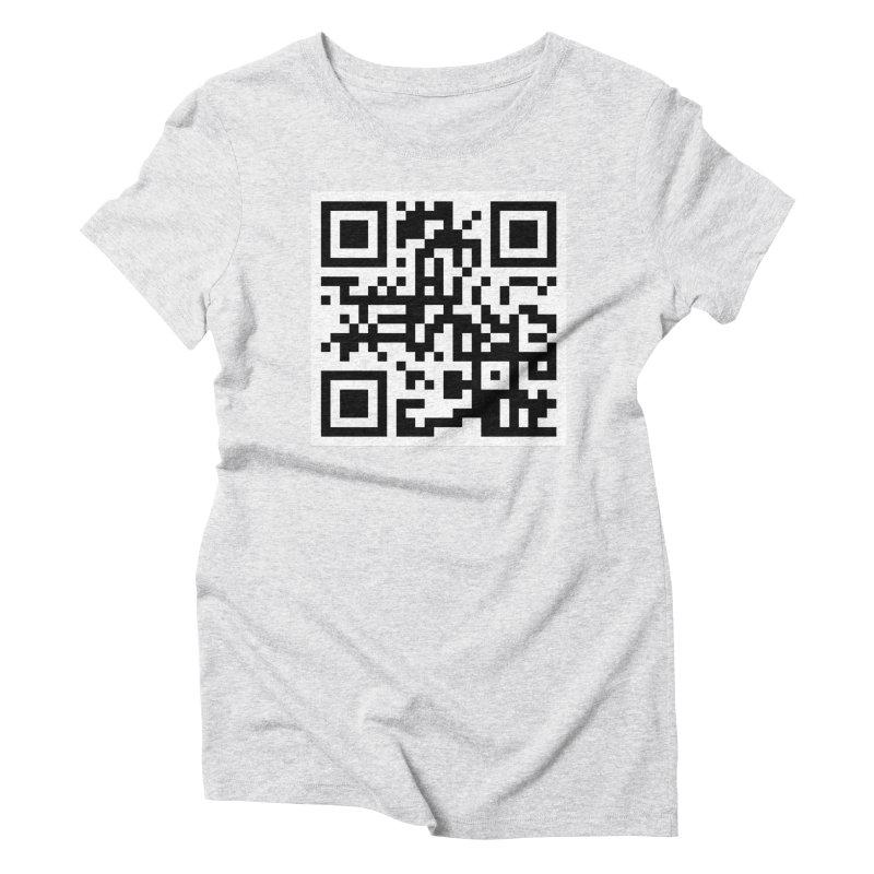 XMR QR Women's Triblend T-Shirt by satoshi's Artist Shop