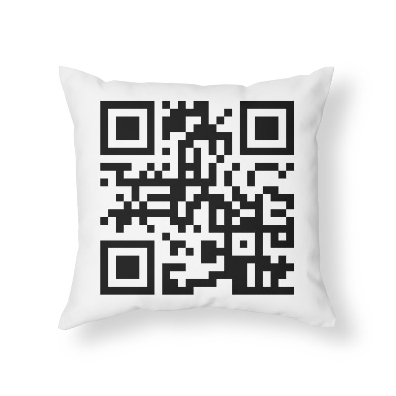 XMR QR Home Throw Pillow by satoshi's Artist Shop