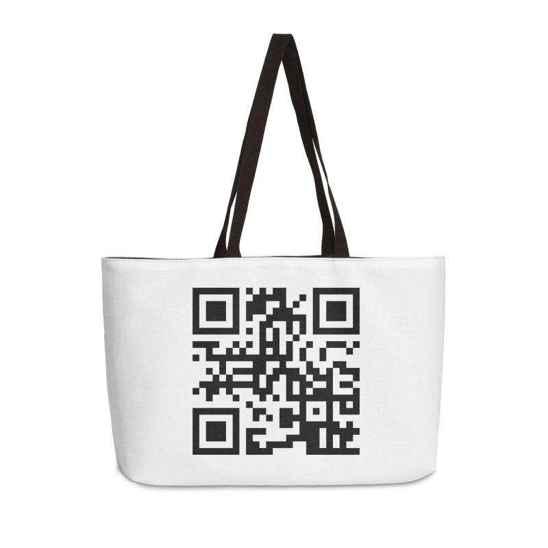 XMR QR Accessories Weekender Bag Bag by satoshi's Artist Shop