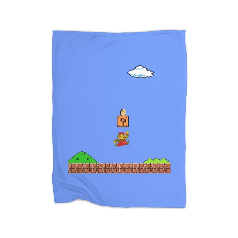 How mining works Home Fleece Blanket Blanket by satoshi's Artist Shop