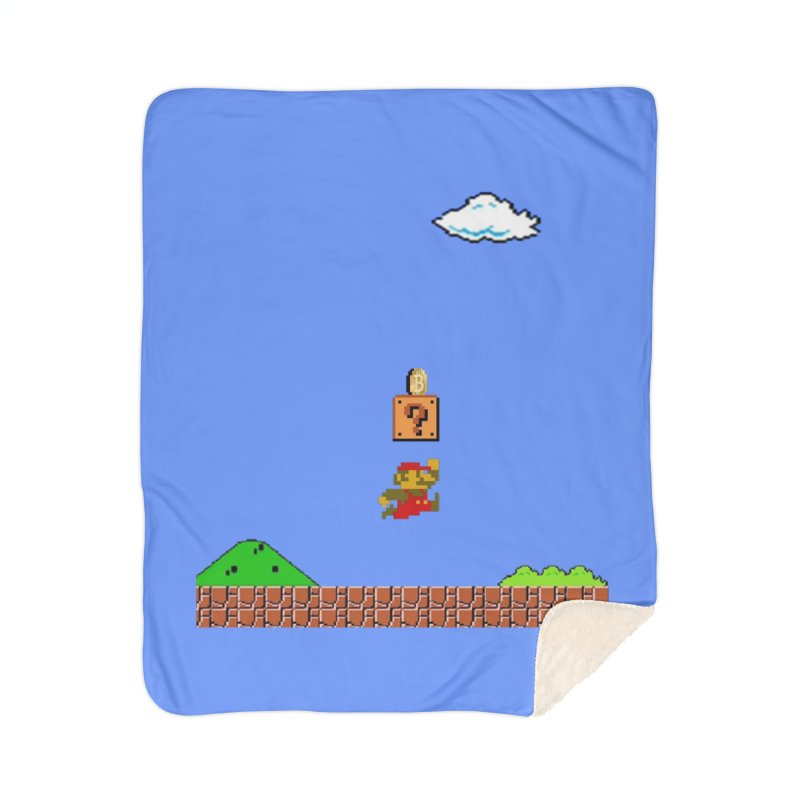 How mining works Home Sherpa Blanket Blanket by satoshi's Artist Shop