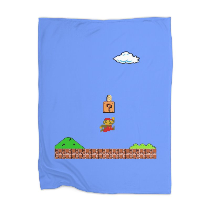 How mining works Home Blanket by satoshi's Artist Shop