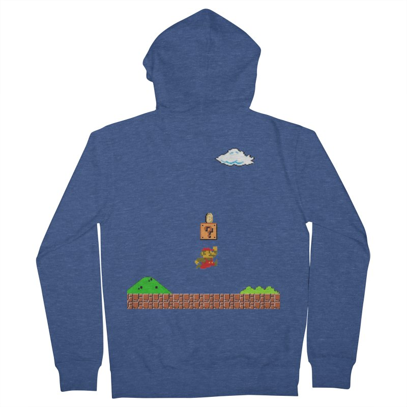 How mining works Men's French Terry Zip-Up Hoody by satoshi's Artist Shop