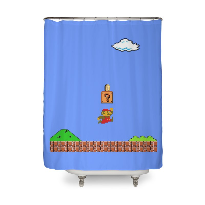 How mining works Home Shower Curtain by satoshi's Artist Shop