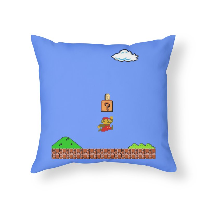 How mining works Home Throw Pillow by satoshi's Artist Shop