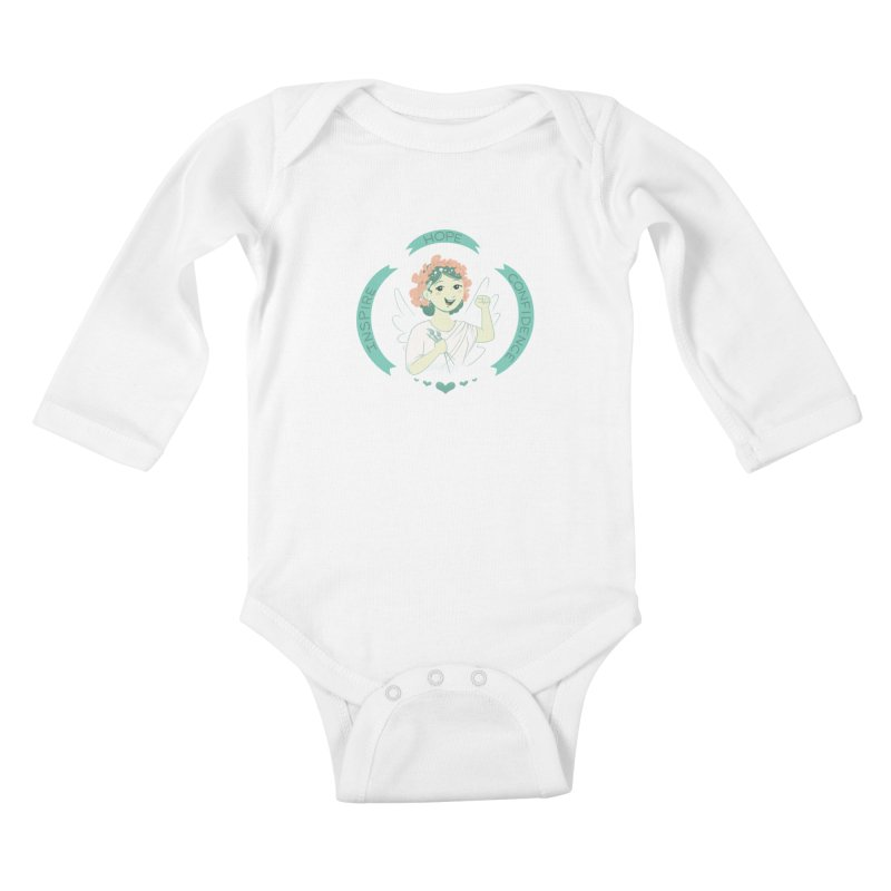 Spread Hope Kids Baby Longsleeve Bodysuit by satruntwins's Artist Shop