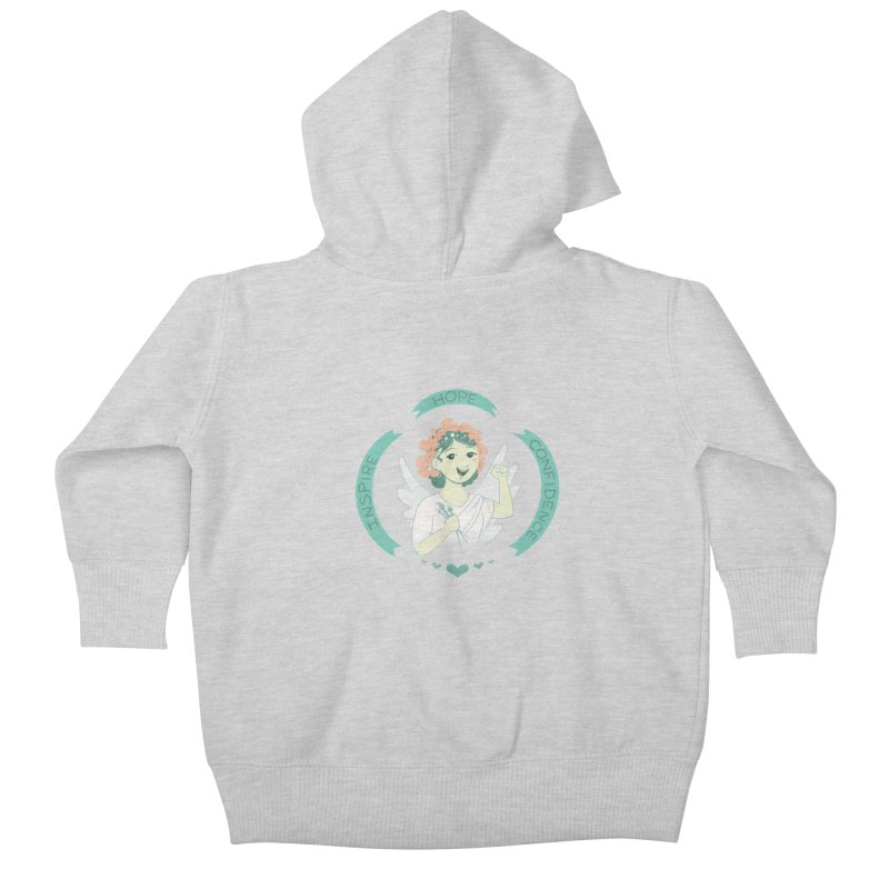 Spread Hope Kids Baby Zip-Up Hoody by satruntwins's Artist Shop
