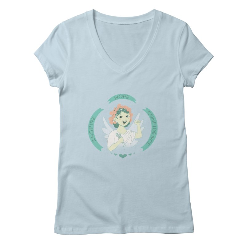 Spread Hope Women's V-Neck by satruntwins's Artist Shop