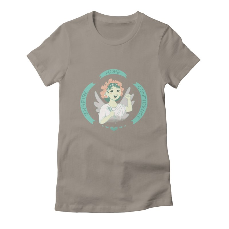 Spread Hope Women's Fitted T-Shirt by satruntwins's Artist Shop
