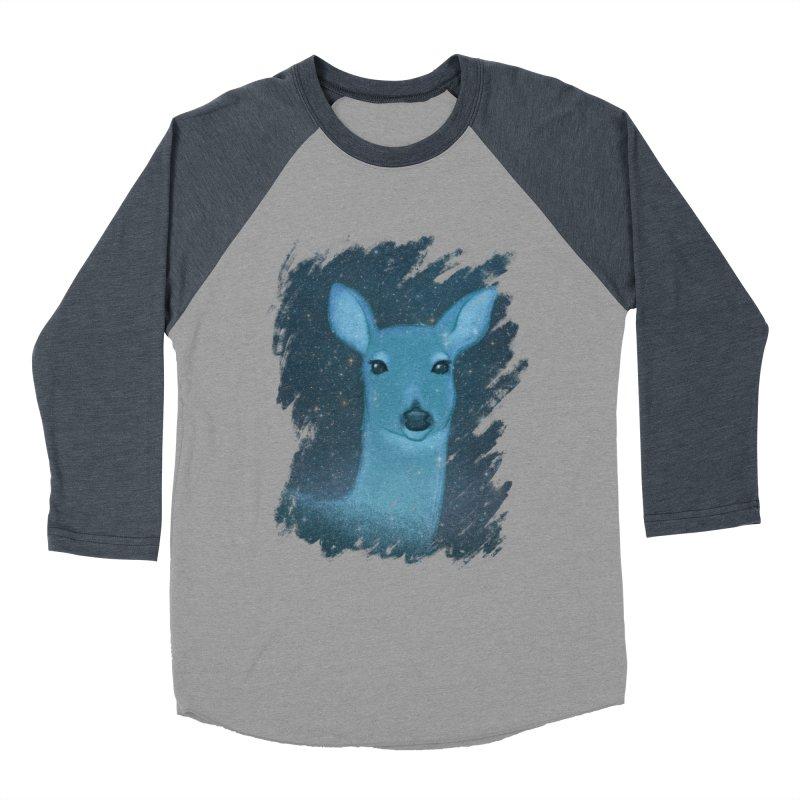 Midnight Deer Men's Baseball Triblend T-Shirt by satruntwins's Artist Shop