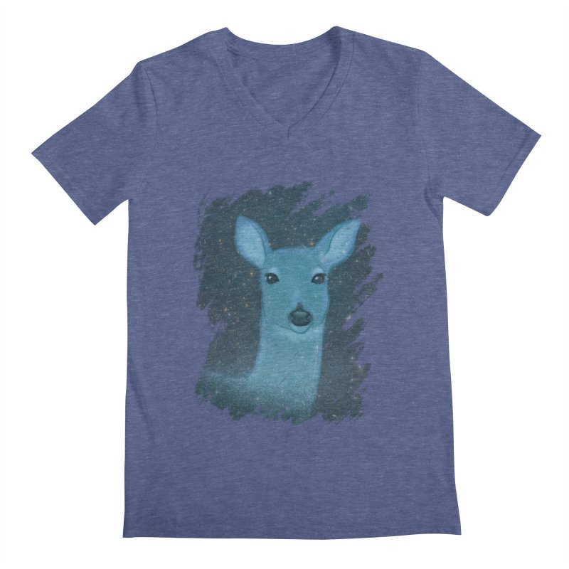 Midnight Deer Men's V-Neck by satruntwins's Artist Shop