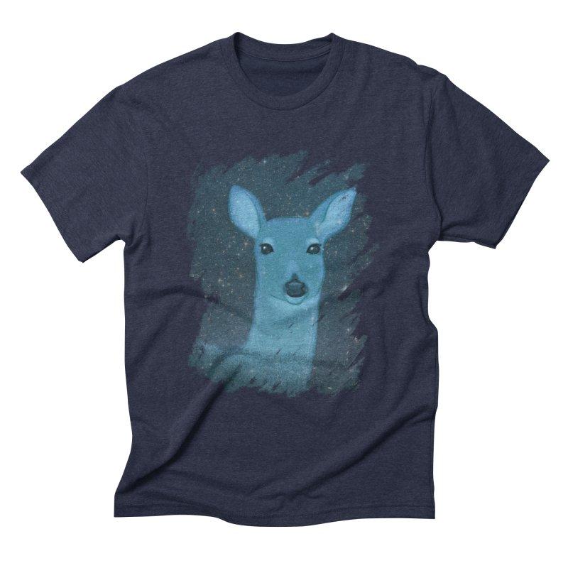 Midnight Deer Men's Triblend T-shirt by satruntwins's Artist Shop