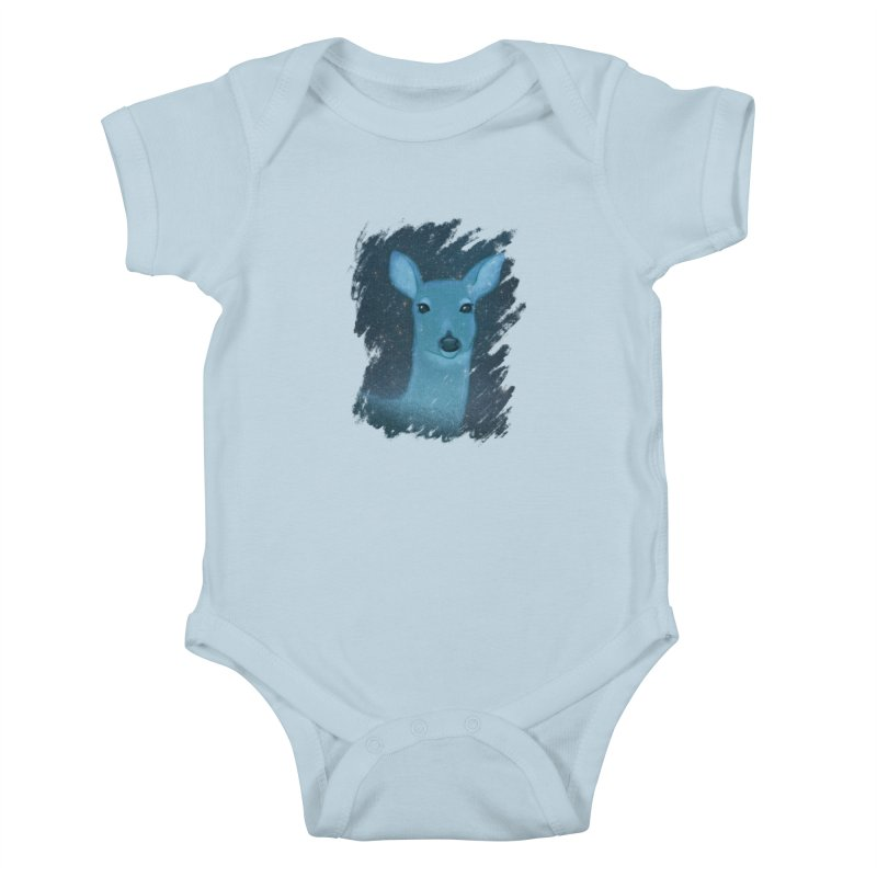 Midnight Deer Kids Baby Bodysuit by satruntwins's Artist Shop