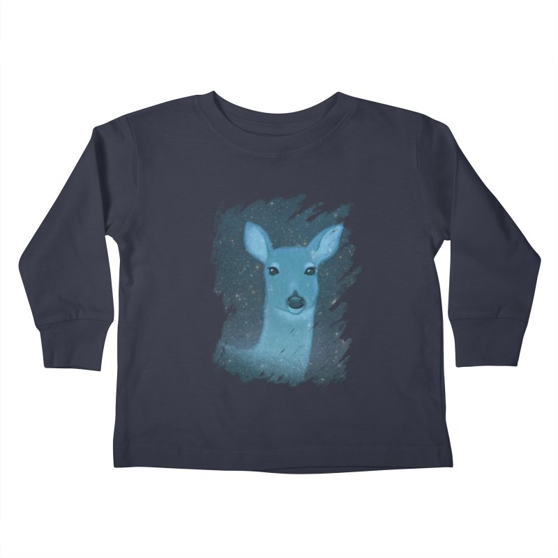 Midnight Deer Kids Toddler Longsleeve T-Shirt by satruntwins's Artist Shop