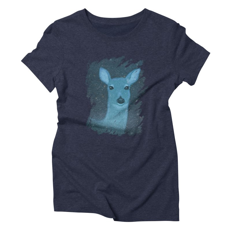 Midnight Deer Women's Triblend T-Shirt by satruntwins's Artist Shop