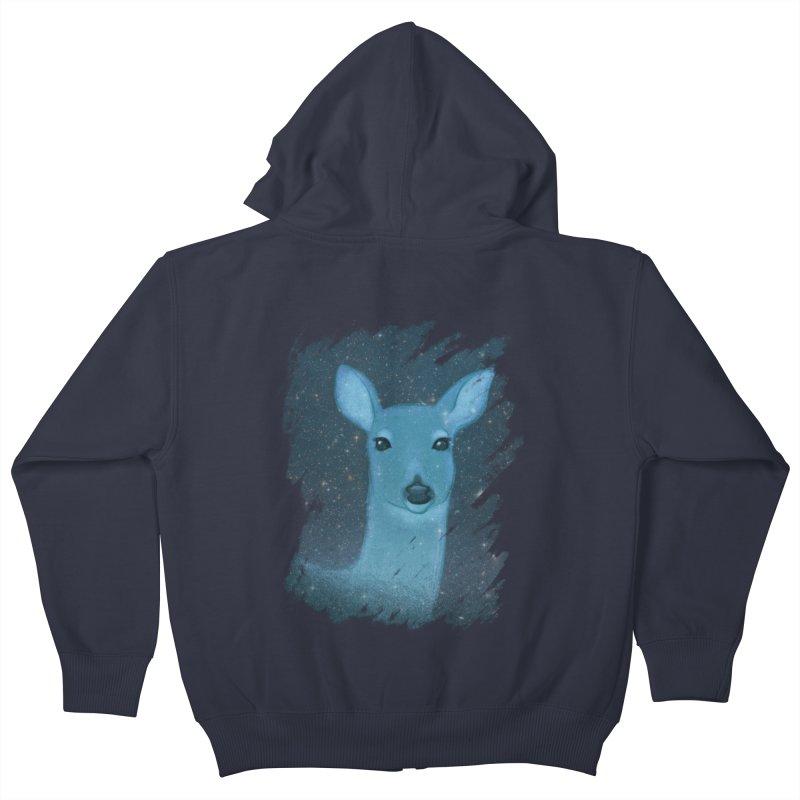 Midnight Deer Kids Zip-Up Hoody by satruntwins's Artist Shop