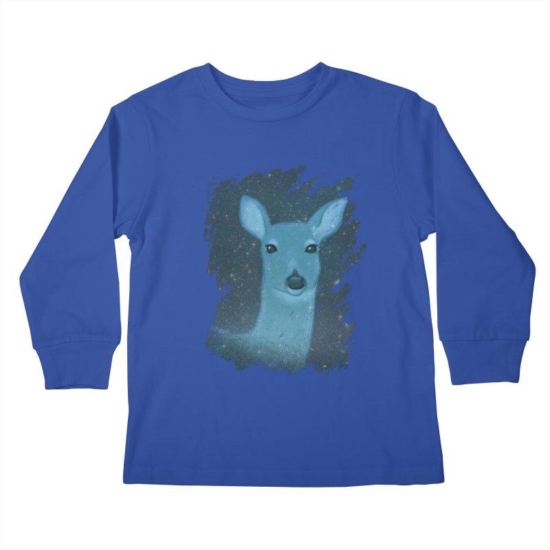 Midnight Deer Kids Longsleeve T-Shirt by satruntwins's Artist Shop