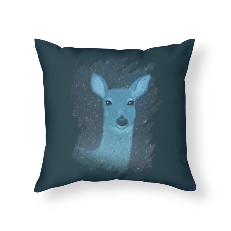 Midnight Deer Home Throw Pillow by satruntwins's Artist Shop