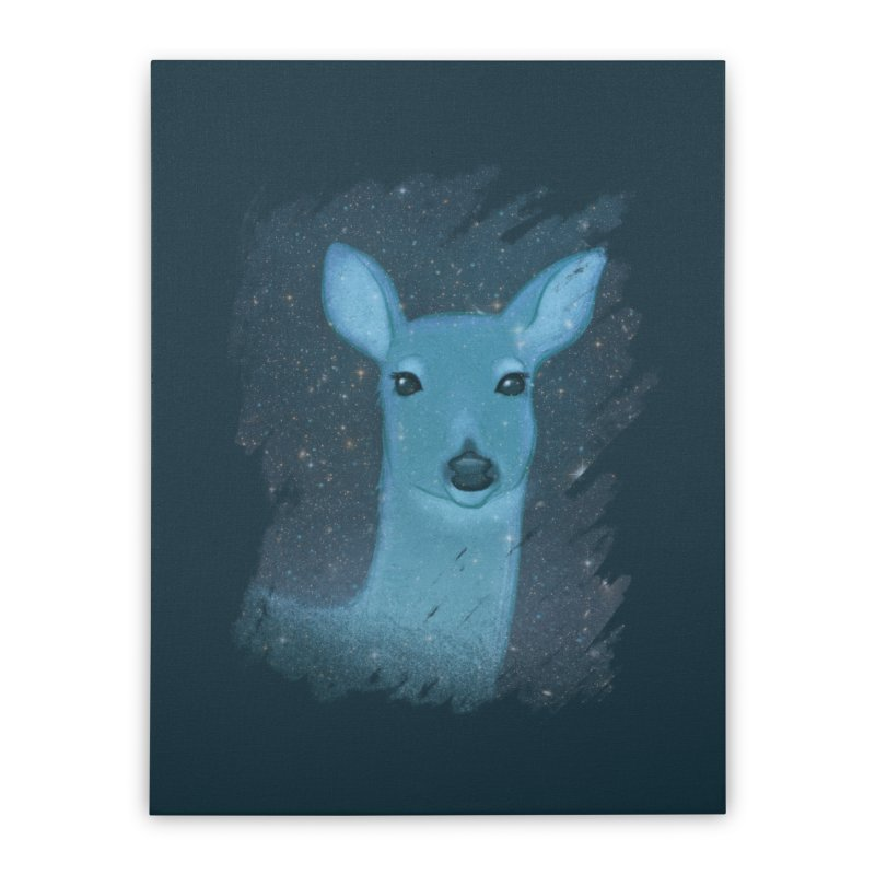 Midnight Deer Home Stretched Canvas by satruntwins's Artist Shop
