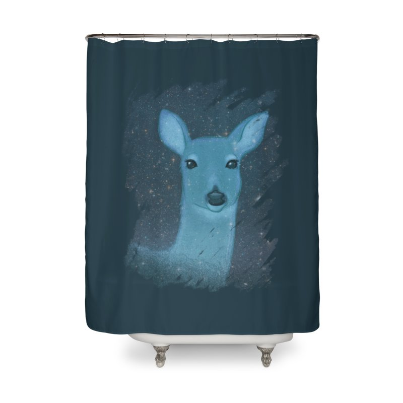 Midnight Deer Home Shower Curtain by satruntwins's Artist Shop