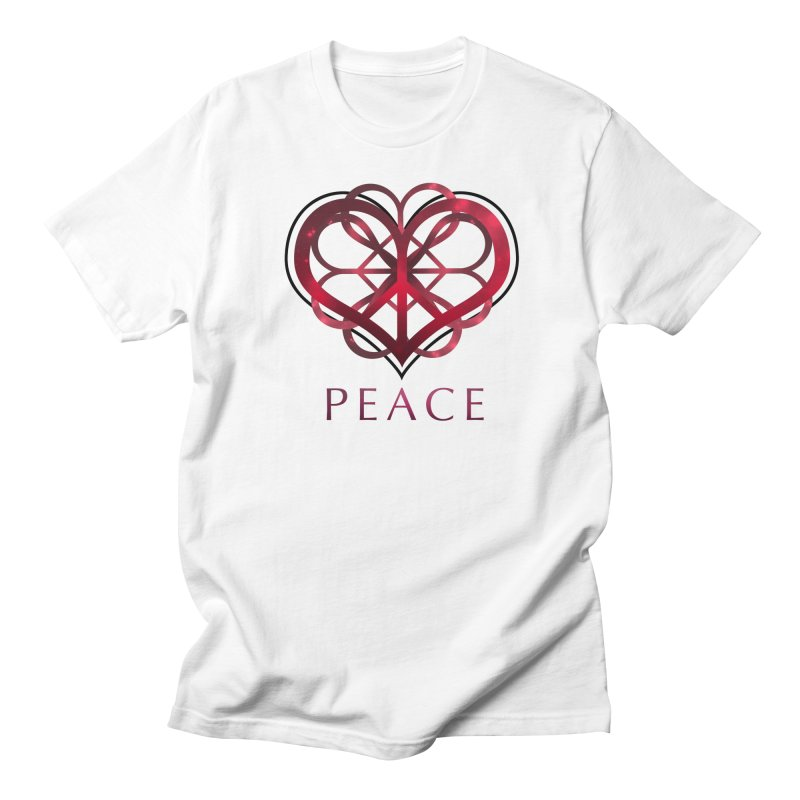 Peace Heart Men's T-shirt by satruntwins's Artist Shop