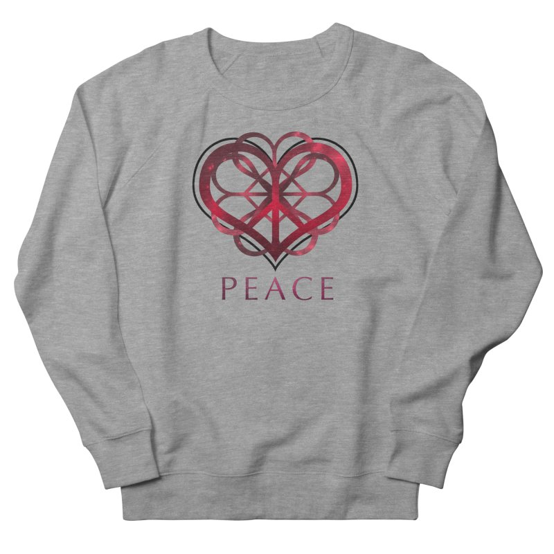 Peace Heart Men's Sweatshirt by satruntwins's Artist Shop