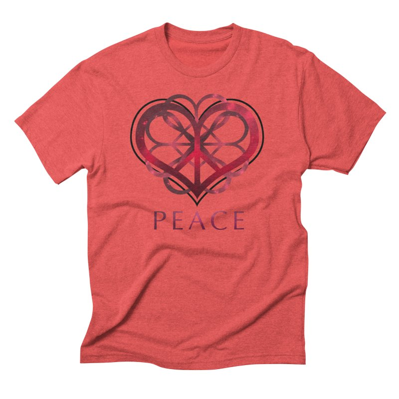 Peace Heart Men's Triblend T-shirt by satruntwins's Artist Shop