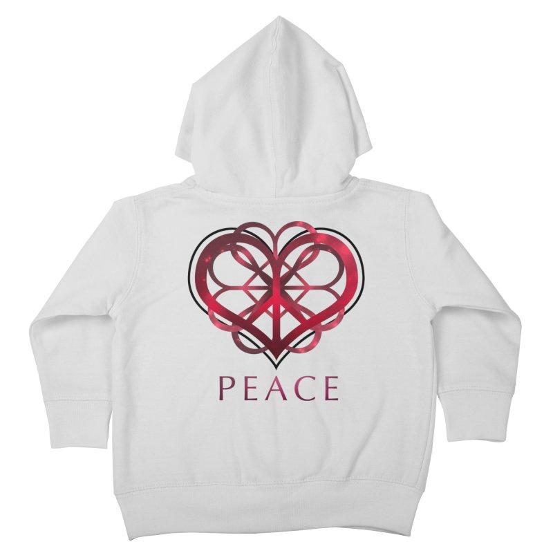 Peace Heart Kids Toddler Zip-Up Hoody by satruntwins's Artist Shop
