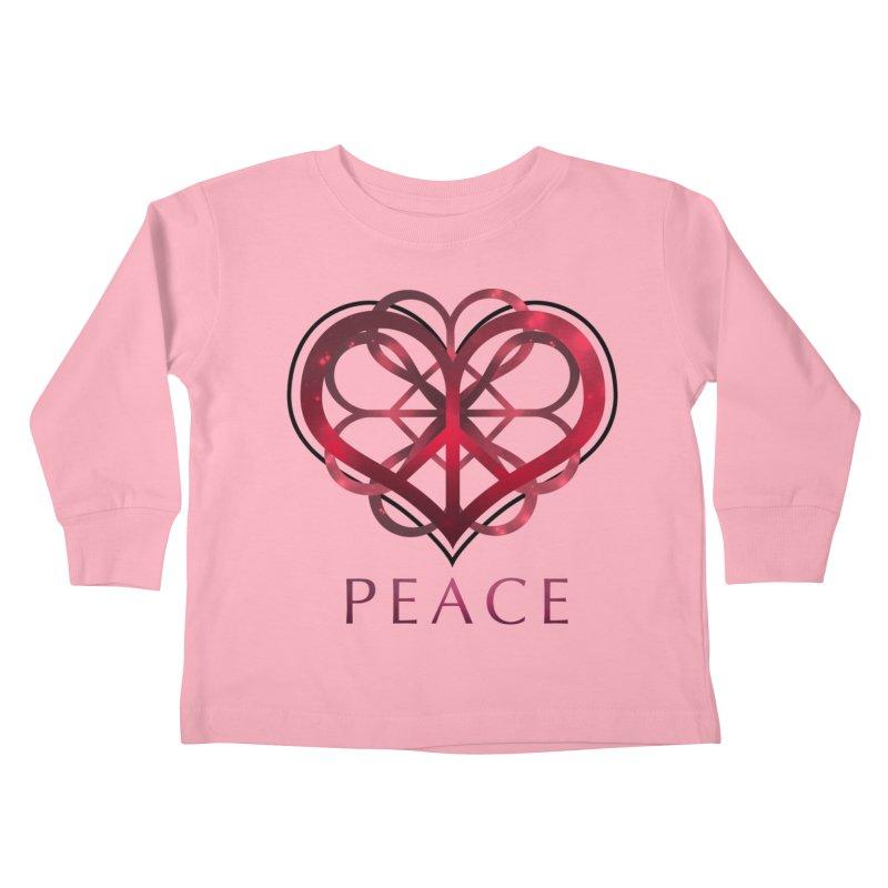 Peace Heart Kids Toddler Longsleeve T-Shirt by satruntwins's Artist Shop