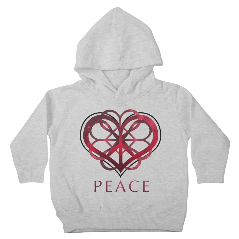 Peace Heart Kids Toddler Pullover Hoody by satruntwins's Artist Shop