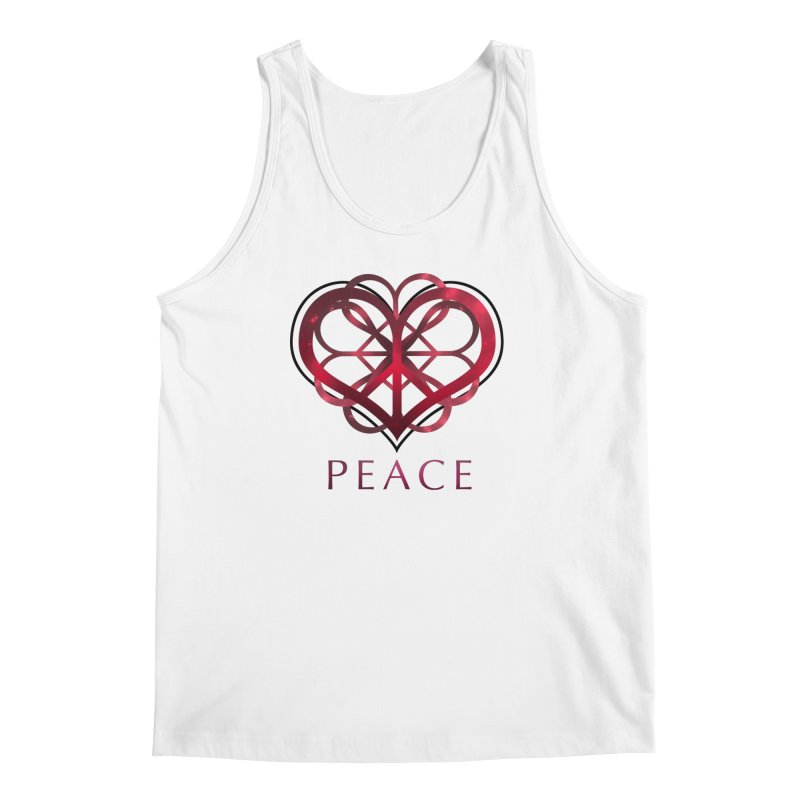 Peace Heart Men's Tank by satruntwins's Artist Shop