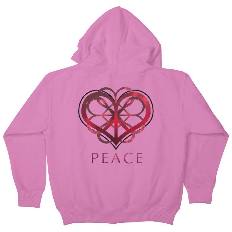 Peace Heart Kids Zip-Up Hoody by satruntwins's Artist Shop