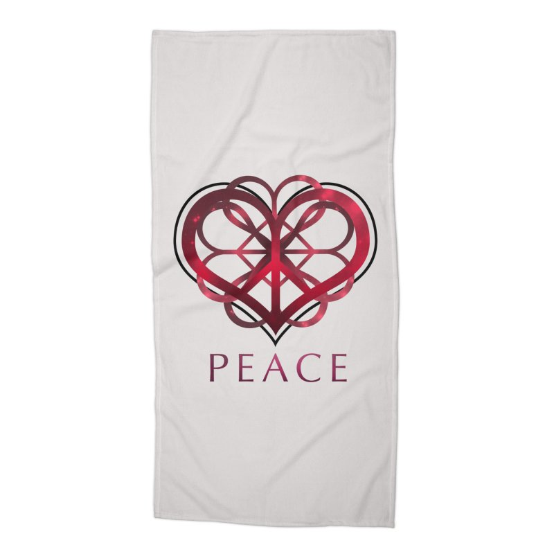 Peace Heart Accessories Beach Towel by satruntwins's Artist Shop