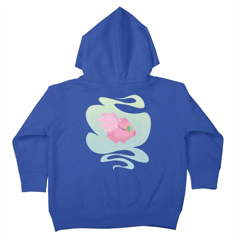 Pink Pig Kids Toddler Zip-Up Hoody by satruntwins's Artist Shop