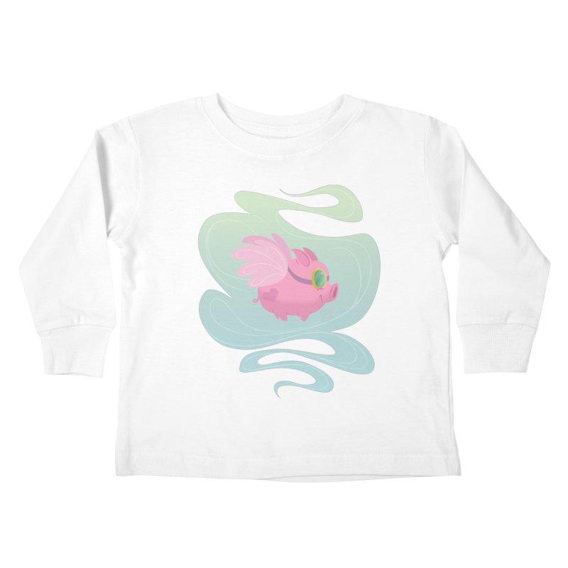 Pink Pig Kids Toddler Longsleeve T-Shirt by satruntwins's Artist Shop
